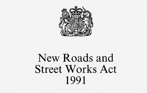 New Roads and Street Works Act 1991