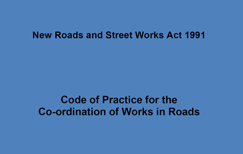 Code of Practice for the Co-ordination of Works in Roads